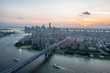 Lower East Side Williamsburg Bridge Aerial Photographic Print by Keith Sherwood