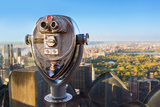 Binoculars with View on Central Park Photographic Print by Sylvain Sonnet