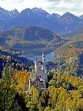 Neuschwanstein Castle near Fussen, Bavaria Photographic Print by Hans-Peter Merten