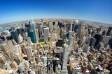 View of New York from Empire State Building Photographic Print by Sylvain Sonnet
