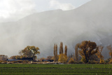 A Farm Surrounded in Fall Color with a Snow Storm Approaching in Yerington, Nv. Photographic Print by Rachid Dahnoun