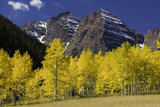Autumn at Maroon Bells Mountains Photographic Print by Robert Cable