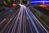 Light Trails Made by Vehicles Photographic Print by  DigiPub