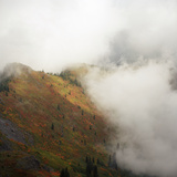 On Top of a Mountain during Autumn Photographic Print by Zeb Andrews