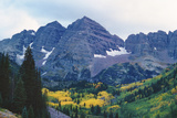 Maroon Bells in Fall Photographic Print by Scott Cramer