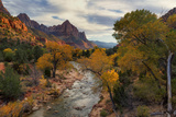Virgin River and Watchman Photographic Print by Don Smith