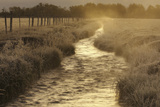 Sunrise Frost Mist Rural Stream Photographic Print by Charles Schug