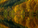 Autmn at Loch Tummell, Pitlochry, Scotland Photographic Print by Kathy Collins
