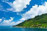 Paradise View of Moorea Islands, Cook's Bay, French Polynesia Photographic Print by  mffoto