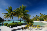 Luxury Resort French Polynesia Photographic Print by  Woolfy
