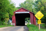 Red Covered Bridge, Princeton, Illinois, USA Photographic Print by Bruce Leighty