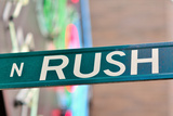 Rush Street Sign Photographic Print by Bruce Leighty