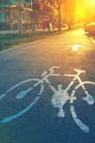 Bicycle Lane Mark on the Street Photo by igor stevanovic
