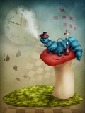 The Hookah Smoking Caterpillar from Alice in Wonderland Photographic Print by  egal