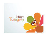 Beautiful, Colorful Cartoon of Turkey Bird for Happy Thanksgiving Celebration, Can Be Use as Flyer, Prints by  aispl
