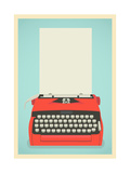Retro Typewriter Background Posters by  Yaviki