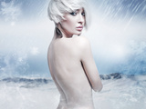 Beauty Blonde in the Winter Scenery Photographic Print by  conrado