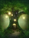 Fantasy Tree House in Forest Posters by  egal