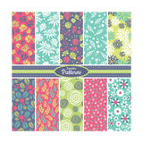 Collection of Seamless Pattern Backgrounds Prints by  SelenaMay