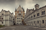 Panoramic View of Neuschwanstein Castle in Bavarian Alps, Germany Photographic Print by  auris