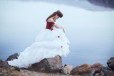 Beautiful Brunette in a Dress Photographic Print by  Black_blood
