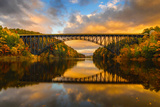 French King Bridge in Fall Photographic Print by Noppawat Tom Charoensinphon