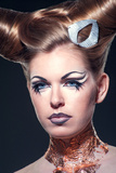 The Girl with Fancy Makeup Photographic Print by  SunDraw