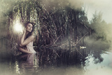 Beautiful Fantasy Woman in Water Photographic Print by  conrado