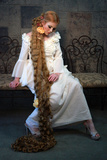 Fairy Tale Girl with Very Long Hair Photographic Print by  tobkatrina