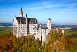 Neuschwanstein Castle in Bavarian Alps, Germany Photographic Print by  swisshippo