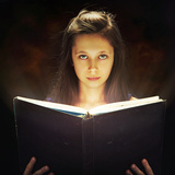 Girl Opened a Magic Book Photographic Print by  conrado