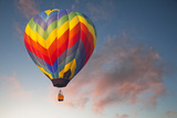 Hot Air Ballon on an Evening Flight Photographic Print by William Manning