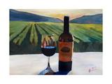 Napa Valley Wine Bottle with Red Wine Reproduction procédé giclée par Markus Bleichner