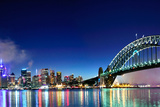 Sydney Harbour NYE Fireworks Panorama Photographic Print by (c) Anthony Ngo. All rights reserved.