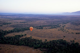 Hot Air Balloon Ride over the Mara Photographic Print by David Cayless