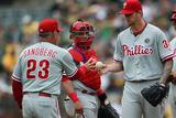 Sep 21, 2014, Philadelphia Phillies vs Oakland Athletics - Ryne Sandberg Photographic Print by Thearon W. Henderson