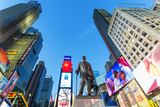Statue of George M. Cohan at times Square Photographic Print by Sylvain Sonnet