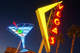 Neon Signs in Fremont Street, Downtown Las Vegas Photographic Print by Siegfried Layda