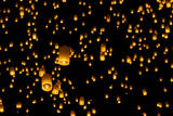Hot Air Lanterns in Sky Photographic Print by Daniel Osterkamp