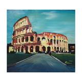 Monumental Coliseum in Rome Italy Reproduction procédé giclée par Markus Bleichner