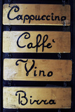 Sign outside a Bar in Venice Photographic Print by Gary Yeowell