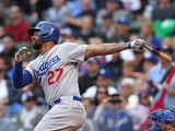 Sep 21, 2014, Los Angeles Dodgers vs Chicago Cubs - Matt Kemp Photographic Print by Jonathan Daniel