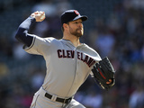 Sep 21, 2014, Cleveland Indians vs Minnesota Twins - Corey Kluber Photographic Print by Hannah Foslien