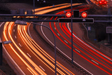 City Highway at Night Photographic Print by Hans-Peter Merten