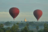 Hot Air Balloons over Bagan in Myanmar Photographic Print by Huang Xin