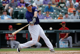 Sep 21, 2014, Arizona Diamondbacks vs Colorado Rockies - DJ LeMahieu Photographic Print by Doug Pensinger