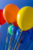 Colorful Balloons against Blue Sky Photographic Print by Stuart Dee