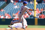Sep 21, 2014, Texas Rangers vs Los Angeles Angels of Anaheim - Rougned Odor Photographic Print by Victor Decolongon