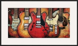 Guitar Collage Framed Giclee Print by Bruce Langton