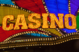 Casino Sign in Neon Photographic Print by Stuart Dee